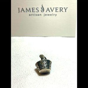 VINTAGE James Avery Charm silver Easter basket retired artisan